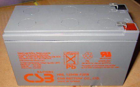 Akumulator żelowy 12V 9Ah CSB HRL1234WF2 Long Life (8l)