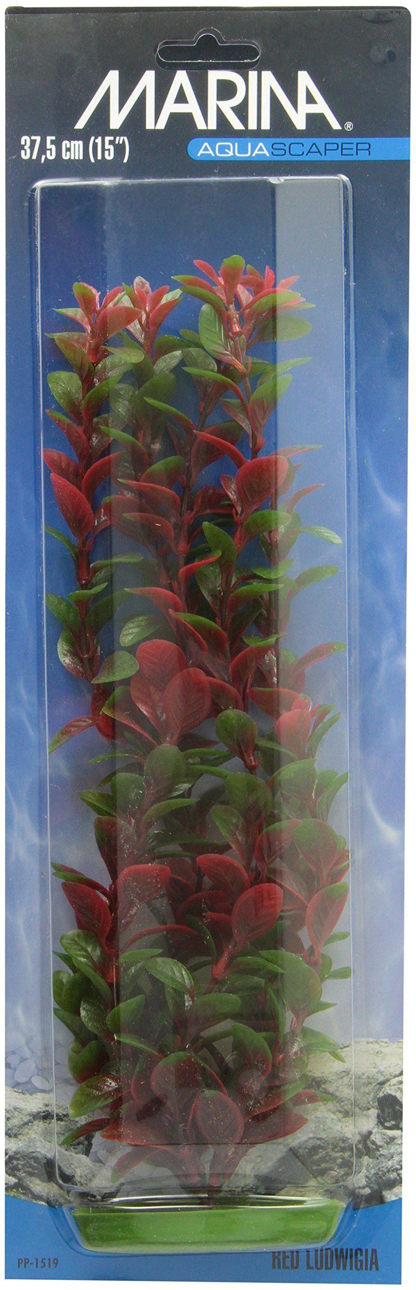 Marina Plastikowa roślina do akwarium Lugwigia, 37,5 cm, czerwona