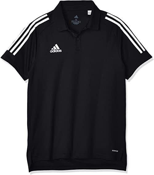 adidas Con20 męska koszulka polo czarny czarny/biały S