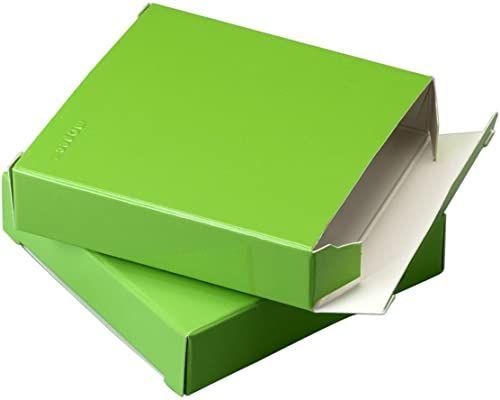 Mopec e471.39  pudełko kwadratowe z zielonego lakieru, opakowanie 25 sztuk