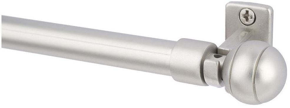 Karnisz mini do zazdrostek Davi 80-120 cm srebrny