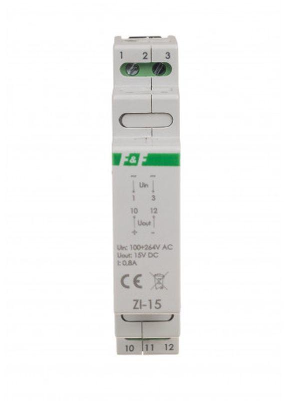 Zasilacz impulsowy 100-264V AC, wyj. 15V DC 0,8A 12W ZI-15