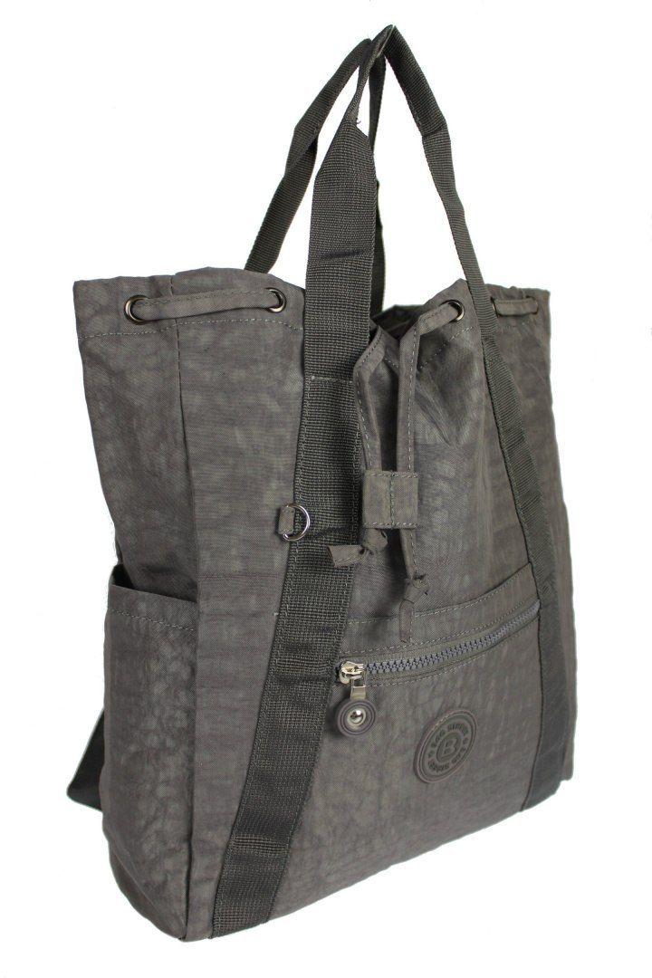 Praktyczny Plecak Torebka 2 w 1 BAG STREET 2247 POPIELATY