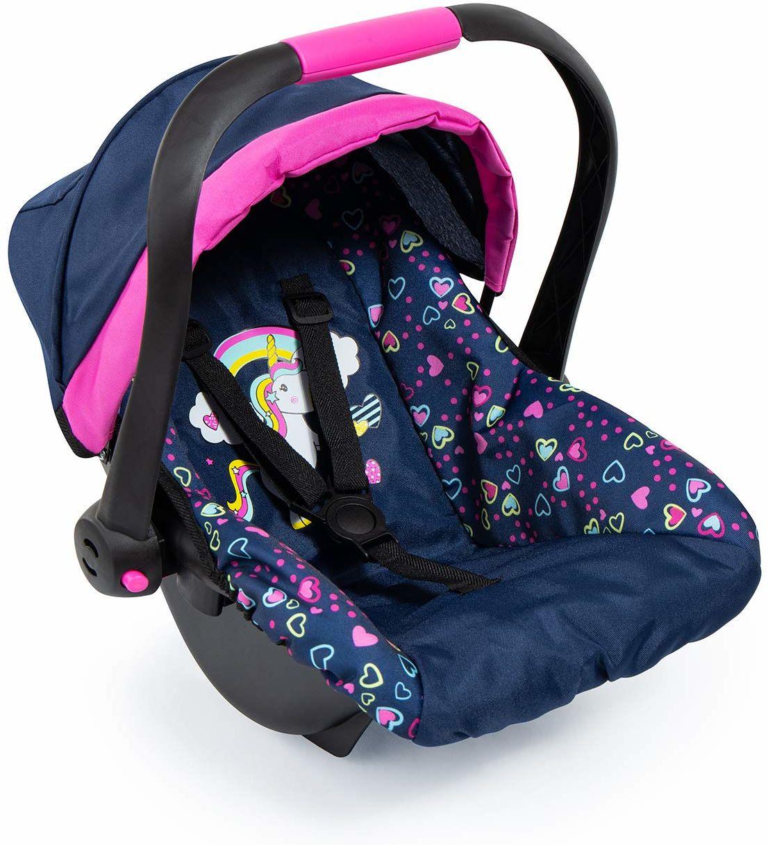 Fotelik samochodowy Easy Go dla lalek dla niemowląt, maluchów, kompatybilny z wózkiem Neo Vario z pokrowcem i paskiem, akcesoria dla lalek