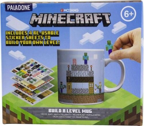 Kubek Minecraft + 4 arkusze naklejek