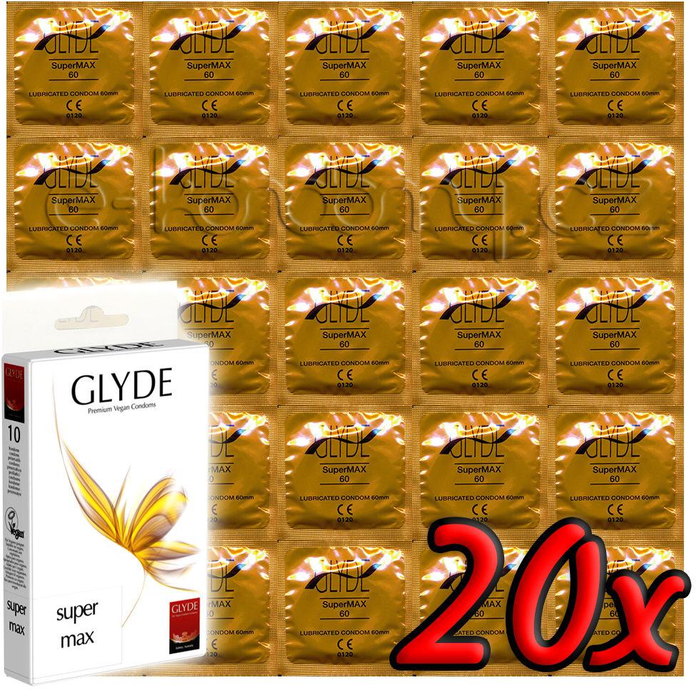 Glyde Super Max - Premium Vegan Condoms 20 pack