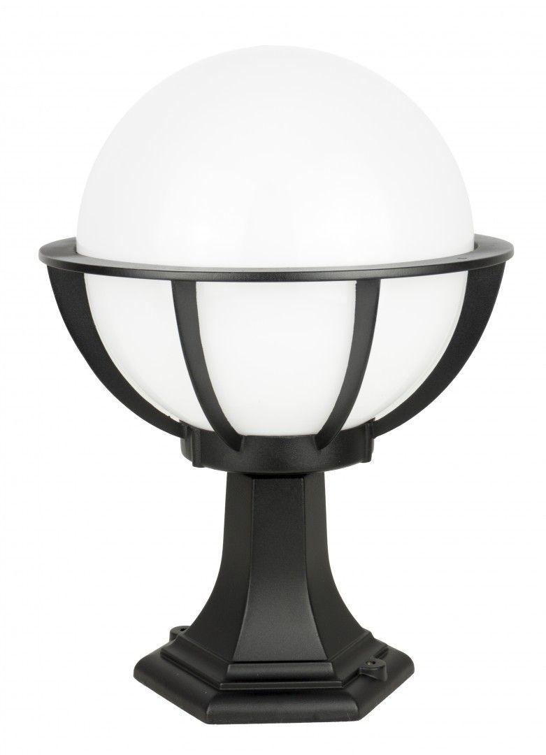 SU-MA Kule z koszykiem 250 K 4011/1/KPO 250 czarna oprawa klosz biały 25 cm