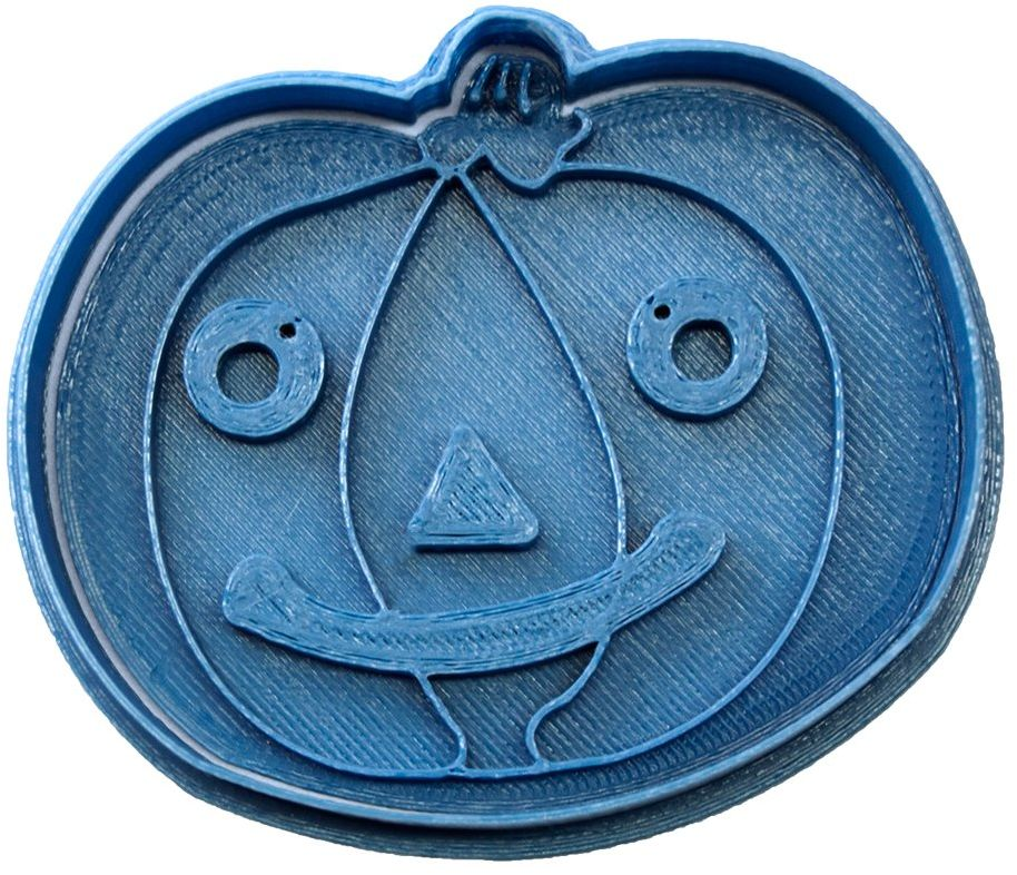 Cuticuter Halloween Wykrojnik dynia, niebieski, 8 x 7 x 1,5 cm