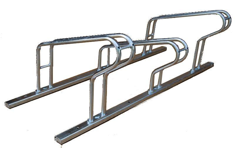 Skręcany stojak rowerowy na 3 rowery Modułowy, skręcany stojak rowerowy
