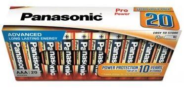 Baterie PANASONIC Pro Power AAA 20szt. LR03PPG/20CB. > DARMOWA DOSTAWA ODBIÓR W 29 MIN DOGODNE RATY