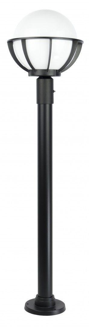 SU-MA Kule z koszykiem 250 K 5002/1/KPO 250 lampa stojąca czarna E27 IP43 130cm