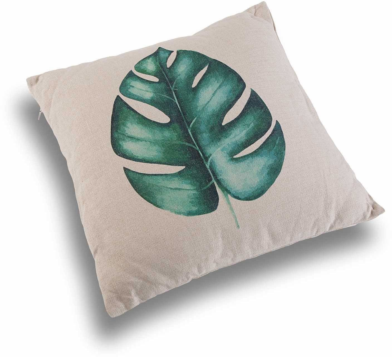 Versa 21350060 poduszka kwadratowa, poliester, zielona/biała, 45 x 15 x 45 cm