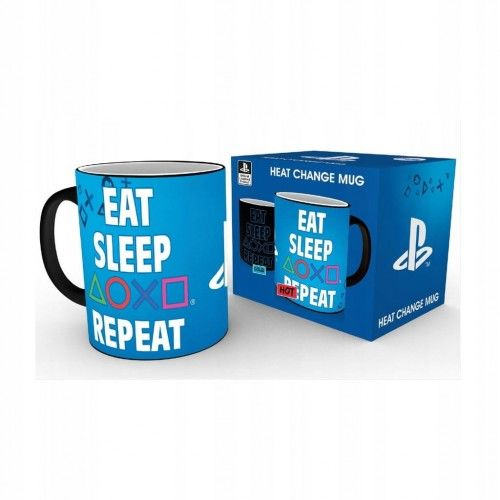 Kubek termoaktywny PlayStation: Eat, Sleep, Play
