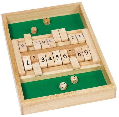 Goki 56897 Podwójne pudełko Shut The Box
