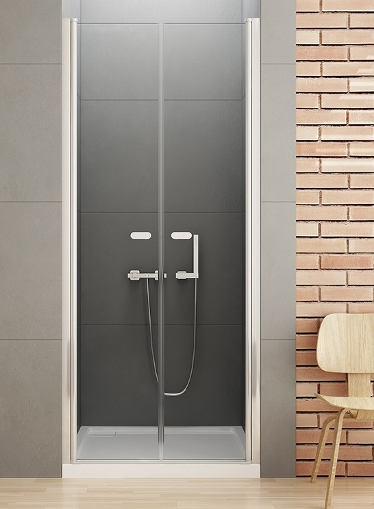 New Trendy New Soleo drzwi wnękowe dwuskrzydłowe 120x195 cm przejrzyste D-0128A ___ZAPYTAJ O RABAT!!___