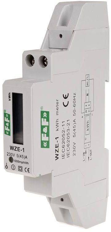 Jednofazowy licznik zużycia energii 45A zgodność z MID WZE-1