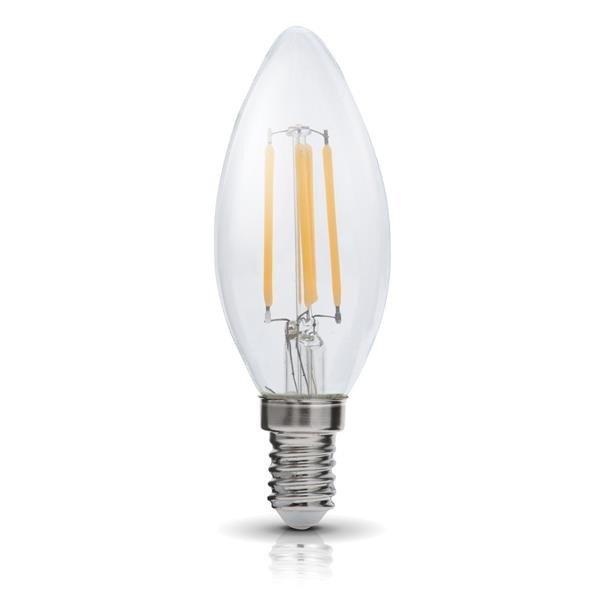 Żarówka FILAMENT LED E14 4W ciepła 3000K świeczka