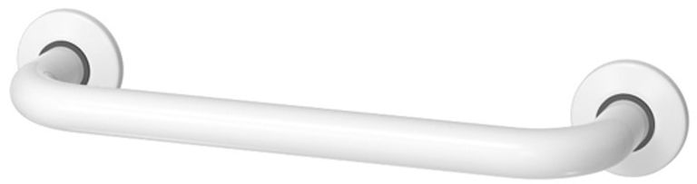 Poręcz łazienkowa dla niepełnosprawnych prosta fi 32 30 cm Faneco stal biała