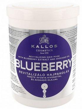 Kallos Blueberry maska rewitalizująca włosy suche i zniszczone 1000 ml