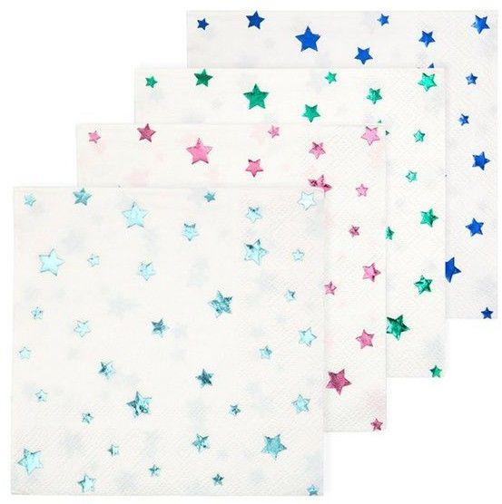 Meri Meri - Serwetki Gwiazdy Metaliczne