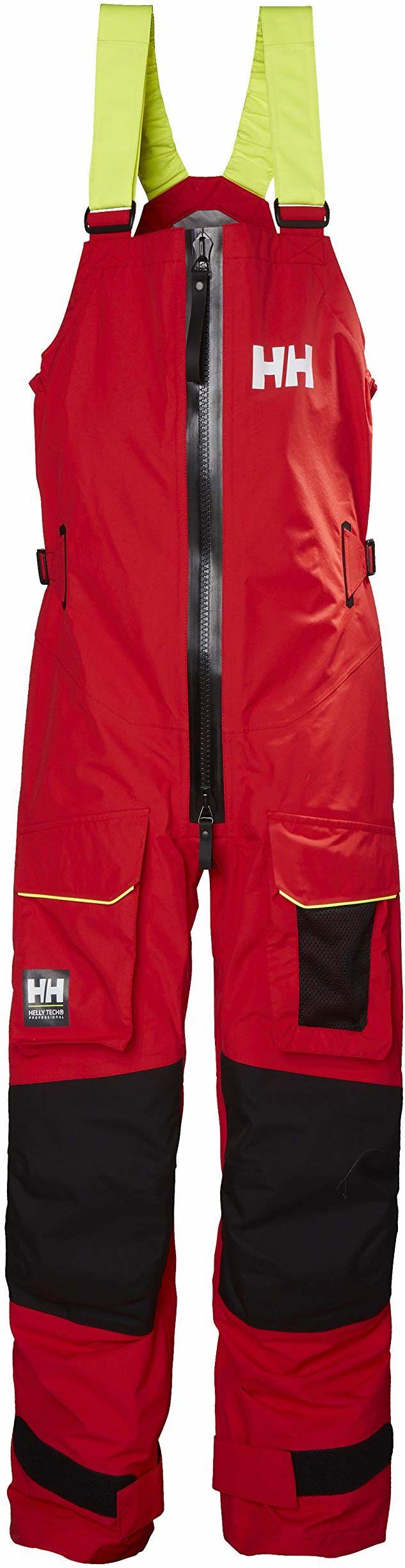 Helly Hansen Aegir Ocean męskie spodnie przeciwdeszczowe, czerwone, L