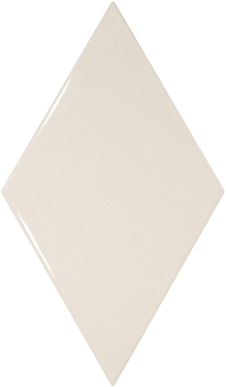 Rhombus Wall White Smooth 15,2x26,3