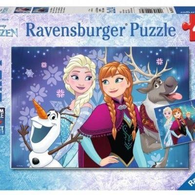 Ravensburger Puzzle 2x24 elementy - Kraina Lodu, Zorza polarna