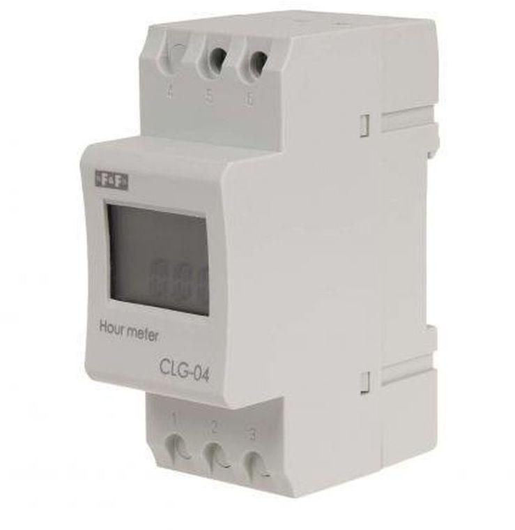 Licznik czasu pracy z zasilaniem bateryjnym do montażu na szynie DIN CLG-04