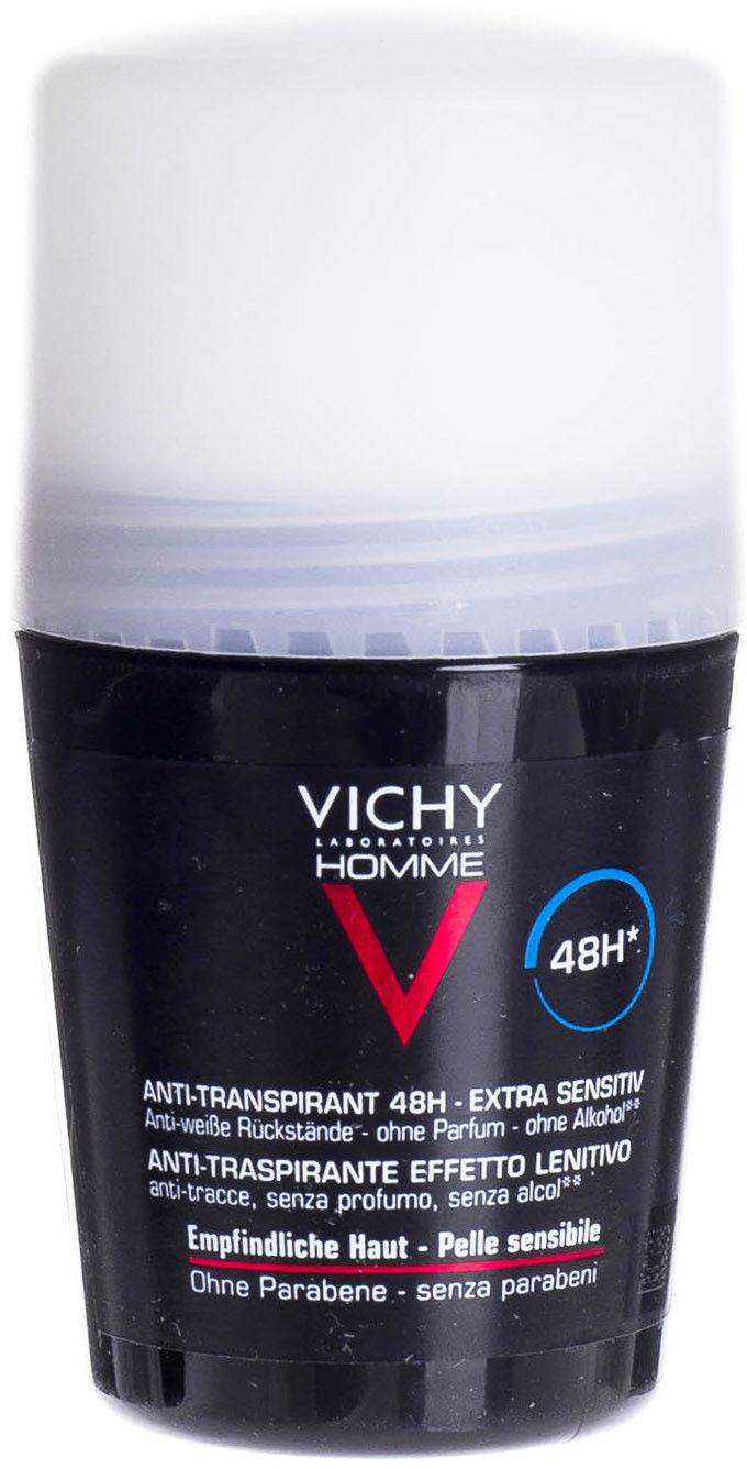 Vichy Homme Deodorant antyperspirant roll-on nieperfumowany 48h 50 ml + do każdego zamówienia upominek.