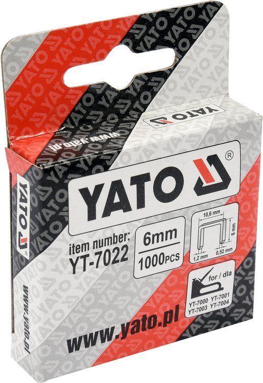Zszywki 6x10.6 mm, 1000 szt Yato YT-7022 - ZYSKAJ RABAT 30 ZŁ