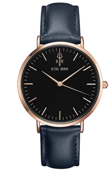 Damski zegarek KING HOON czarno-złoto-granatowy