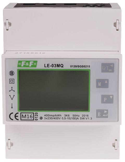 Licznik zużycia energii elektrycznej 1-faz / 3-faz dwukierunkowy z analizą parametrów sieci LE-03MQ