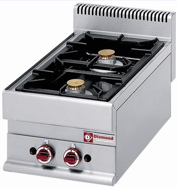 Kuchnia gazowa 2 palnikowa 8600W