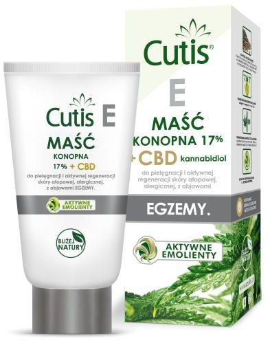 Cutis E maść konopna 17% + CBD do pielęgnacji i aktywnej regeneracji skóry atopowej, alergicznej z objawami egzemy 120 ml