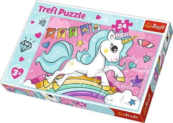 Puzzle Maxi 24 Słodki jednorożec ZAKŁADKA DO KSIĄŻEK GRATIS DO KAŻDEGO ZAMÓWIENIA