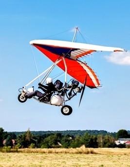 Lot motolotnią  Kłobuck