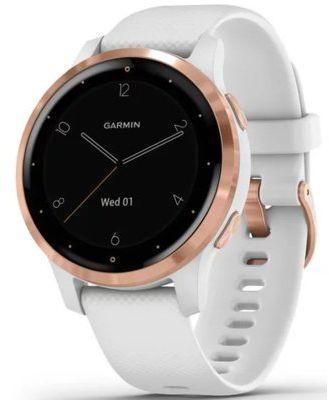 Smartwatch GARMIN Vivoactive 4s 40 mm Biały z różowozłotym zapięciem 010-02172-23. > Rabatomania trwa! 5-ty produkt 99% TANIEJ! ODBIÓR W 29MIN DARMOWA DOSTAWA DOGODNE RATY!