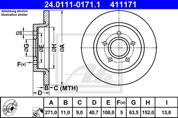 tarcze hamulcowe Focus MK3 - tył / ATE