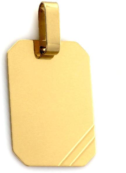 Złota przywieszka 585 nieśmiertelnik pod grawer 1.88g