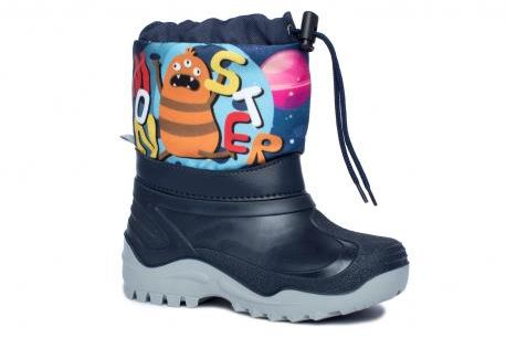 Renbut Muflon kalosze śniegowce dla dzieci 22-468/23-478 Monster granat/ druk