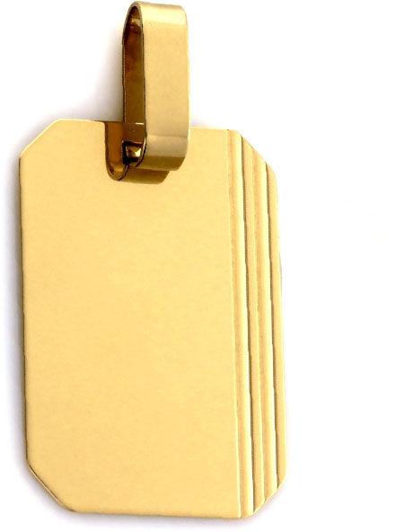 Złota przywieszka 585 nieśmiertelnik 1.85g blaszka