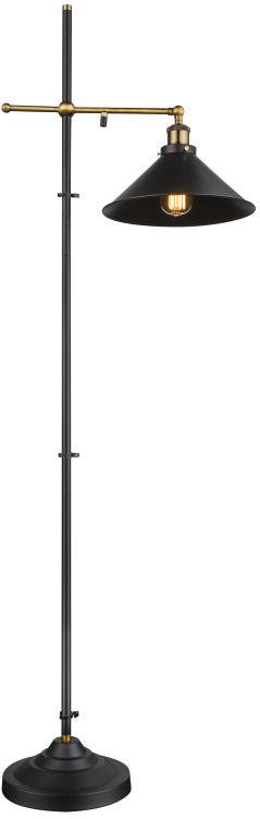 Globo LENIUS 15053S lampa podłogowa czarna 1xE27 60W 30cm