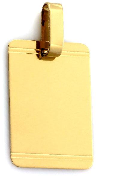Złota przywieszka 585 nieśmiertelnik 1.9g 33,5mm
