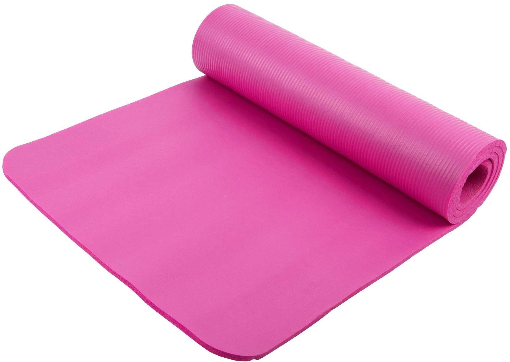 Mata do ćwiczeń NBR Majestic Sport HOME 185x60x1 cm różowa