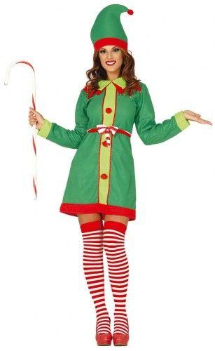Kostium dla kobiety Świąteczna Pani Elf, Elfka