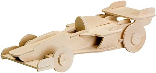 Donau Elektronik M850-11 drewniany design samochód wyścigowy, wielokolorowy