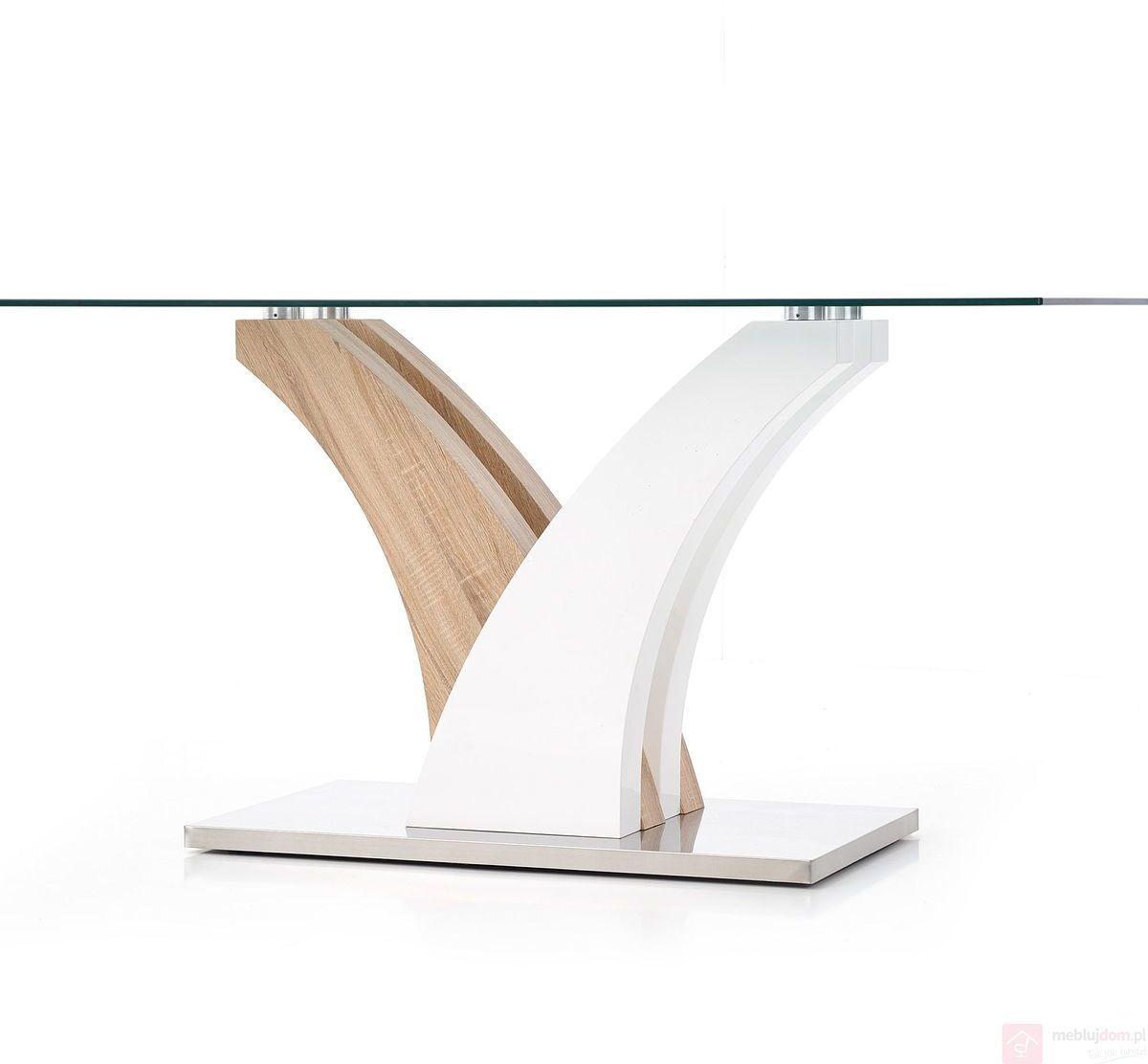 KUPON 10% NA STRONIE  Stół VILMER Halmar 90x160 cm, Dąb sonoma + biały