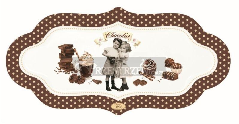 PORCELANOWY PÓŁMISEK DESEROWY - Vintage Chocolate (1142 CHOV)