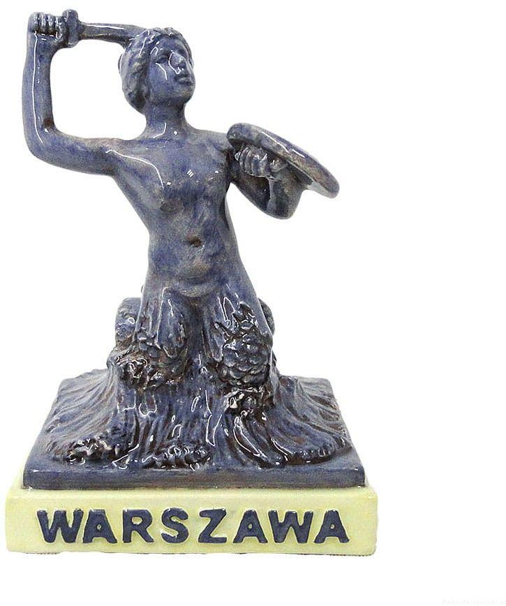 Ceramiczna statuetka Syrenka Warszawa