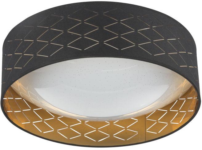 Globo CLARKE 15229D7 plafon lampa sufitowa czarno-złota LED 18W 3000K 40cm
